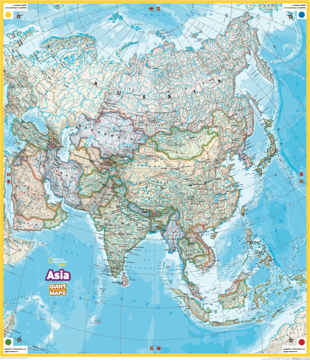Giant Asia Map RHODE ISLAND GEOGRAPHY EDUCATION ALLIANCE - Asia maps